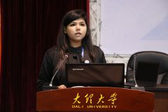 Paper presentation by Ms. Neha from SOLCGL on behalf of Dr. Qareen Haque, Ms. Du Hua and Ms. Jun Chen.JPG